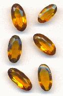 Mixed Smoked Topaz Oval Rhinestones
