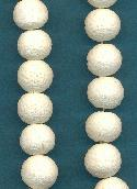 14mm White Lava Beads