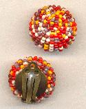 25mm Vintage Seed Beed Clip On Earrings