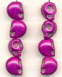 13x10mm Purple Magnesite Skull Beads
