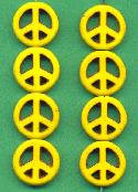 15mm Yellow Magnesite Peace Beads