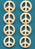 15mm White Magnestie Peace Beads