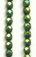 4mm Metallic Olive Glass Beads