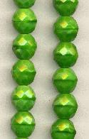 10mm Opaque Green Glass Beads