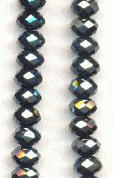 6x4mm Hematite Faceted Donut Beads