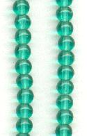 4mm Blue/Green Pressed Glass Beads