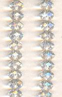 6x4mm Crystal/Clear Faceted Rondelles