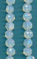 10mm White Opal Glass Beads