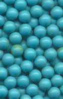 5mm Turquoise Plastic No Hole Beads