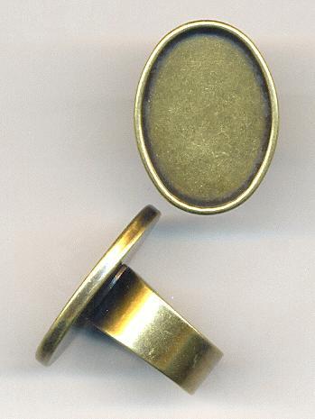 antique brass adj ring with 25x18mm oval jan s jewelry
