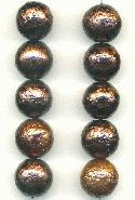 12-14mm Raisin/Bronze Glass Beads