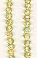 3mm Light Topaz MC Faceted Glass Beads