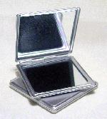 2 1/2'' Brushed Steel Square Compacts