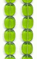 14x12mm Olive Oval Window Beads