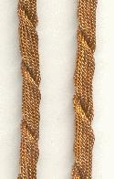 6mm Brass Twisted Mesh Chain