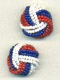 23mm Red/Blue/White Bead Embellishment