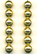 10mm Metallic Gold Glass Bead