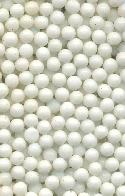 3mm Chalk White Glass No Hole Beads
