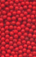 3mm Cherry Red Glass No Hole Beads