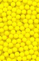 3mm Yellow Glass No Hole Beads
