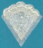 4 7/8'' x 4 5/8'' Clear AB Applique