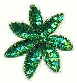 3 7/16'' x 3 1/4'' Emerald Green Applique