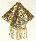 4 1/8'' x 4 1/2'' Gold Sequin Applique