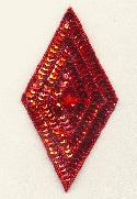 5 1/4'' x 2 3/4'' Red Diamond Applique