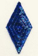 5 1/4'' x 2 3/4'' Blue Diamond Applique