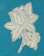 5x3.5'' White Beaded Applique