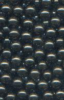 6mm Dark Grey No Hole Pearl Beads