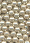 5 mm Off-White Pearl No Hole Beads