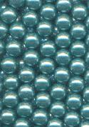5mm Acrylic Teal No-Hole Pearl Beads