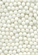 2.5mm White Glass No Hole Beads