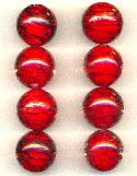 19.5mm Red/Black Glass Beads