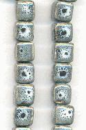 10x9mm-11x11mm Grey/Black Ceramic Beads