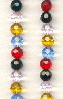 6mm Mixed Clolor Faceted Beads