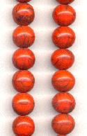 12mm Black/Orange Glass Beads