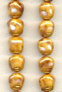 11.2x10mm Champagne/Brown Glass Beads