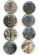 25mm Grey Web Agate Beads