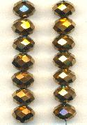 12x8.1mm Bronze Faceted Rondelle