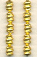12x9mm Gold Plated Twisted Bead