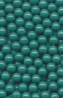 4mm Medium Green Plastic No Hole Beads