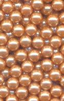 5mm Dusty Peach No-Hole Beads