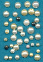 Mixed Lot Acrylic Opaque FB Pearl Stones