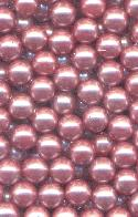5mm No Hole Dark Pink Pearl Beads