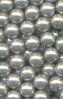 8mm Gray Pearl No Hole Acrylic