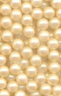 5mm Off White Pearl No Hole Bead