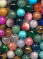 10mm Mixed Faceted No Hole Beads