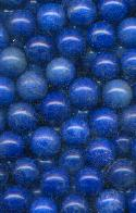 10mm Semi-Precious Blue No Hole Bead